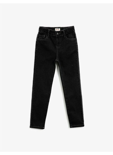 Koton Slim Fit Comfort Stretch Jean Pantolon Gri